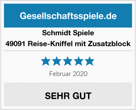 Schmidt Spiele 49091 Reise-Kniffel mit Zusatzblock Test