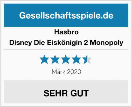 Hasbro Disney Die Eiskönigin 2 Monopoly Test