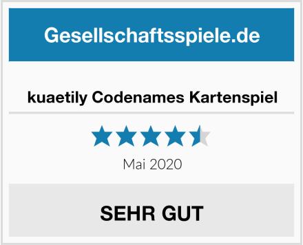 kuaetily Codenames Kartenspiel Test
