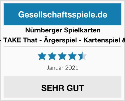 Nürnberger Spielkarten 4043 - TAKE That - Ärgerspiel - Kartenspiel & 4034 Test