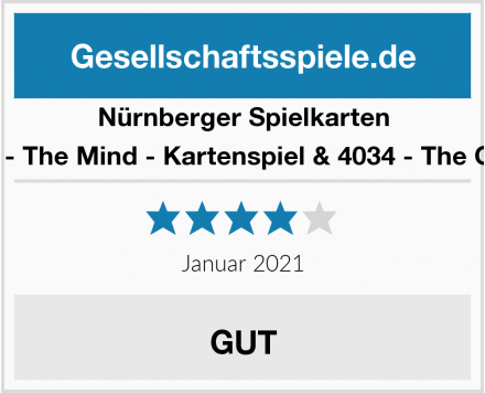 Nürnberger Spielkarten 4059 - The Mind - Kartenspiel & 4034 - The Game Test