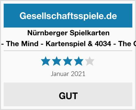 Nürnberger Spielkarten 4059 - The Mind - Kartenspiel & 4034 - The Game Test