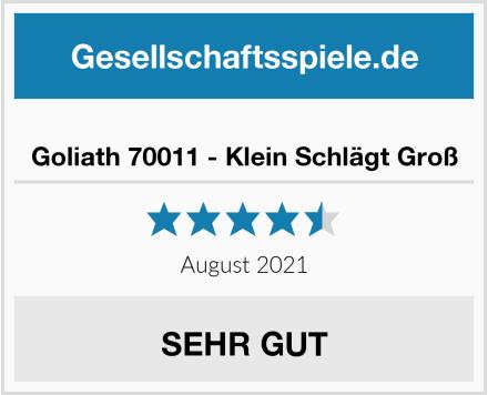 Goliath 70011 - Klein Schlägt Groß Test