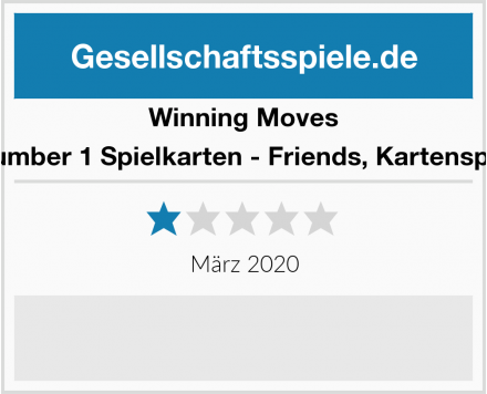 Winning Moves Number 1 Spielkarten - Friends, Kartenspiel Test