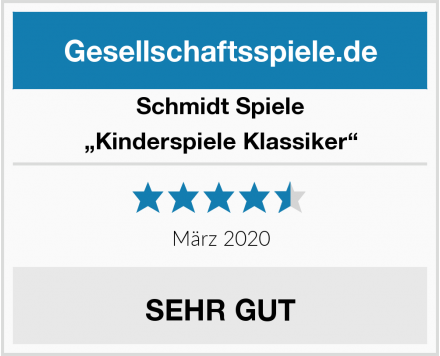 """Schmidt Spiele """"Kinderspiele Klassiker"""" Test"""