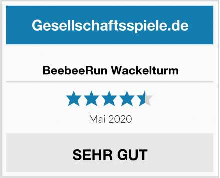 BeebeeRun Wackelturm Test