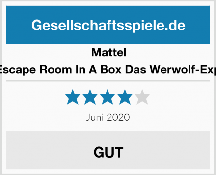 Mattel Games Escape Room In A Box Das Werwolf-Experiment Test