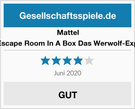 Mattel Games Escape Room In A Box Das Werwolf-Experiment Test