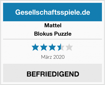 Mattel Blokus Puzzle Test
