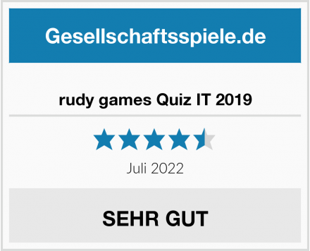 rudy games Quiz IT 2019 Test
