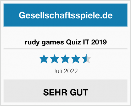 rudy games Quiz IT 2019 Test