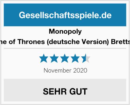 Monopoly Game of Thrones (deutsche Version) Brettspiel Test