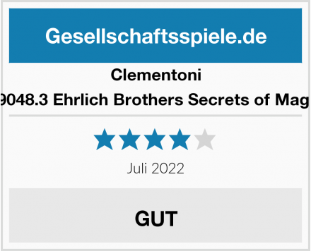 Clementoni 59048.3 Ehrlich Brothers Secrets of Magic Test