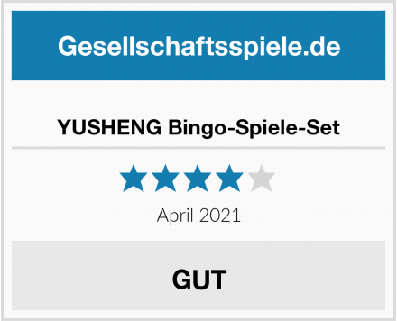 YUSHENG Bingo-Spiele-Set Test