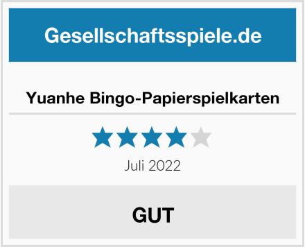 Yuanhe Bingo-Papierspielkarten Test