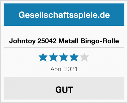 Johntoy 25042 Metall Bingo-Rolle Test