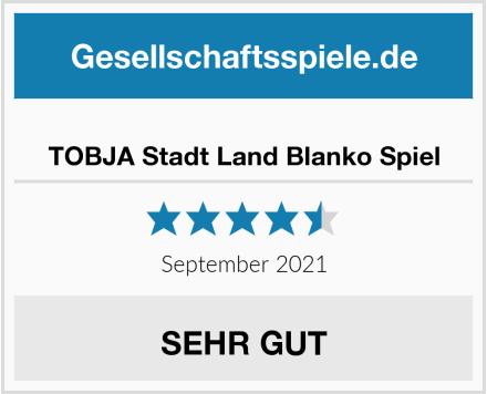 TOBJA Stadt Land Blanko Spiel Test