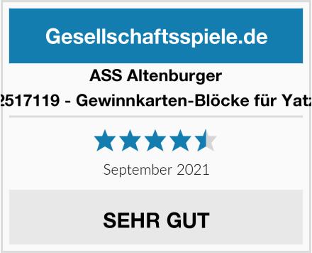 ASS Altenburger 22517119 - Gewinnkarten-Blöcke für Yatzy Test