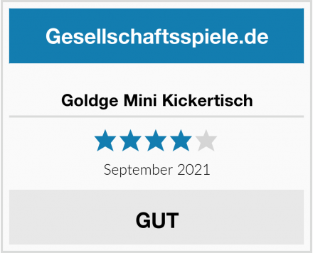 Goldge Mini Kickertisch Test