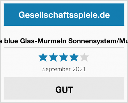 Out of the blue Glas-Murmeln Sonnensystem/Murmelspiel Test