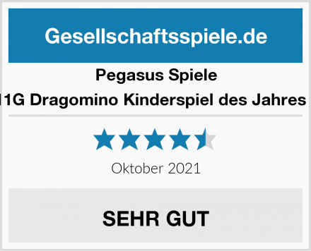 Pegasus Spiele 57111G Dragomino Kinderspiel des Jahres 2021 Test