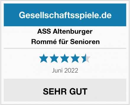 ASS Altenburger Rommé für Senioren Test