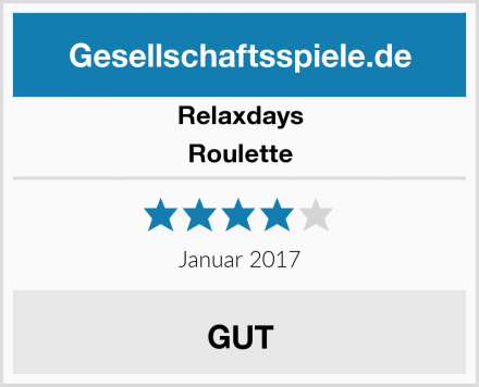 Relaxdays Roulette Test