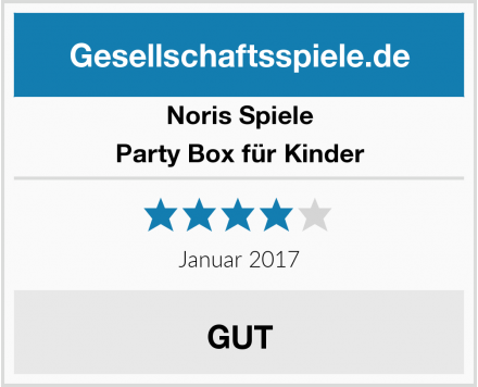 Noris Spiele Party Box für Kinder Test