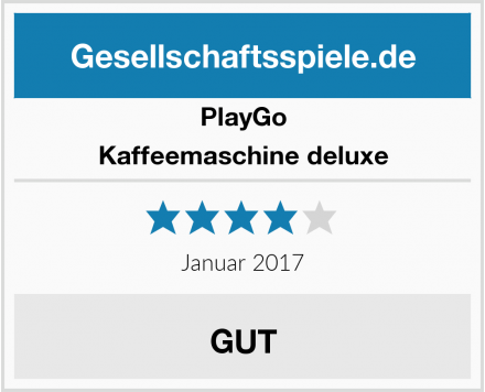 PlayGo Kaffeemaschine deluxe Test