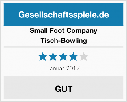 Small Foot Company Tisch-Bowling Test