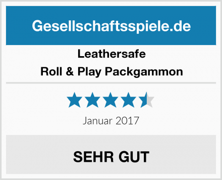 Leathersafe Roll & Play Packgammon Test