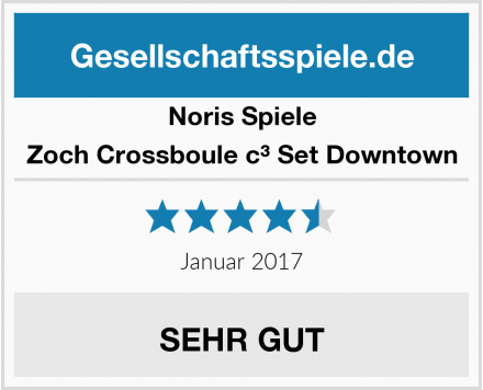 Noris Spiele Zoch Crossboule c³ Set Downtown Test