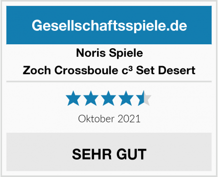 Noris Spiele Zoch Crossboule c³ Set Desert Test