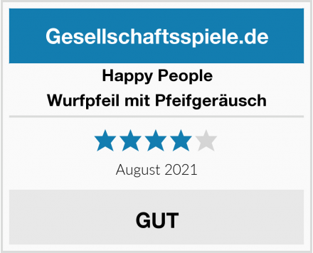 Happy People Wurfpfeil mit Pfeifgeräusch Test
