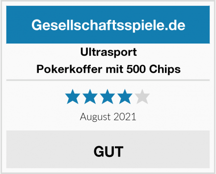 Ultrasport Pokerkoffer mit 500 Chips Test