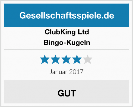 ClubKing Ltd Bingo-Kugeln Test