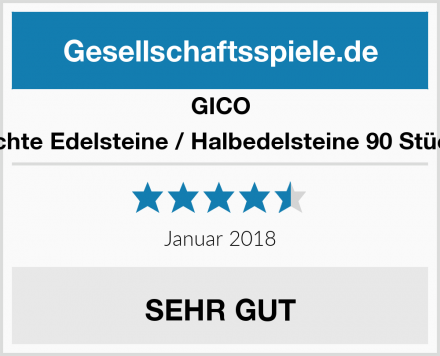 GICO Echte Edelsteine / Halbedelsteine 90 Stück Test