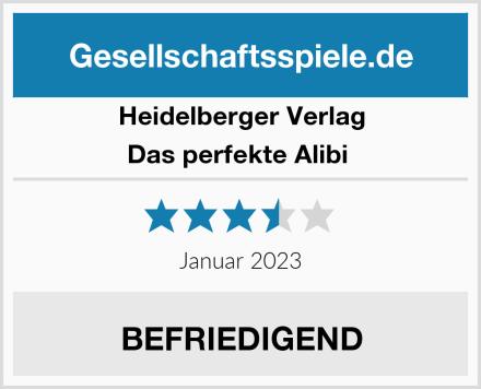 Heidelberger Verlag Das perfekte Alibi  Test
