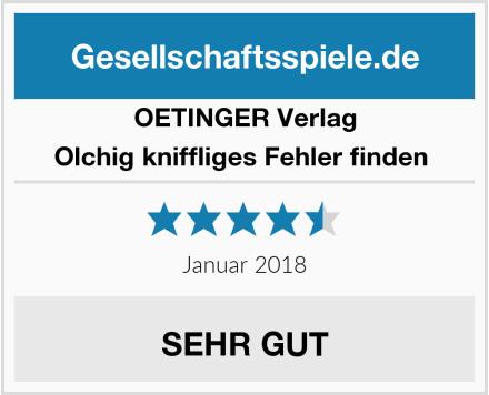 Oetinger Verlag Olchig kniffliges Fehler finden  Test