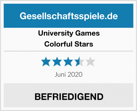 University Games Colorful Stars Test