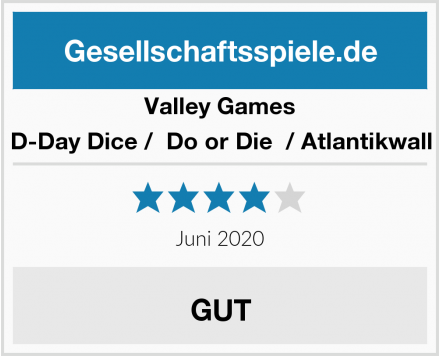 Valley Games D-Day Dice /  Do or Die  / Atlantikwall Test