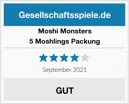 Moshi Monsters 5 Moshlings Packung Test