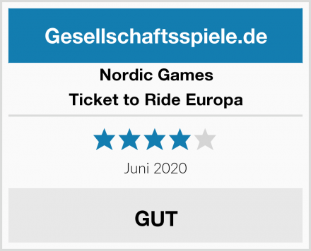 Nordic Games Ticket to Ride Europa Test