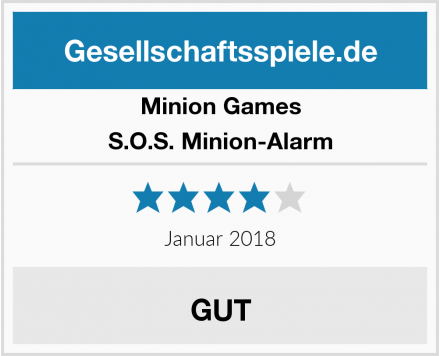 Minion Games S.O.S. Minion-Alarm Test