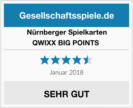 Nürnberger Spielkarten QWIXX BIG POINTS  Test