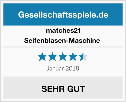 matches21 Seifenblasen-Maschine  Test