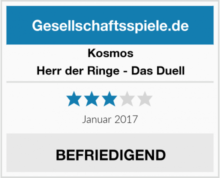 Kosmos Herr der Ringe - Das Duell Test