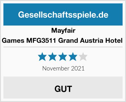Mayfair Games MFG3511 Grand Austria Hotel  Test