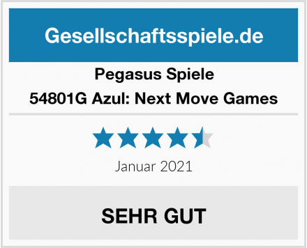 Pegasus Spiele 54801G Azul: Next Move Games Test