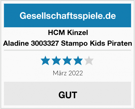 HCM Kinzel Aladine 3003327 Stampo Kids Piraten Test